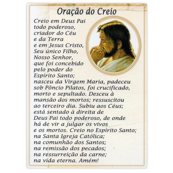 Cartão Postal Oração do Creio