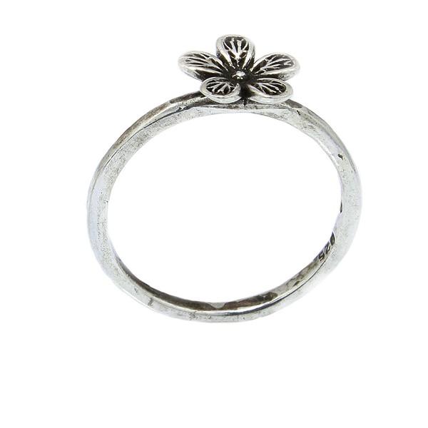 Anel Orquídea Prata 925