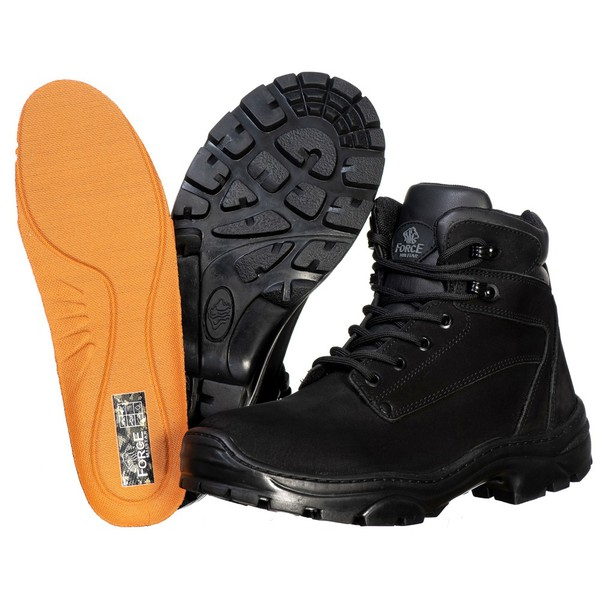 Bota Cano Curto Adventure Preto Force Militar.