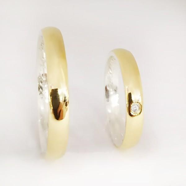Aliança casamento revestida em ouro 18k 750 4mm