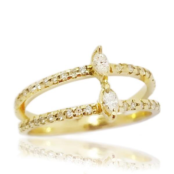 Anel Diamond ouro 18k maciço