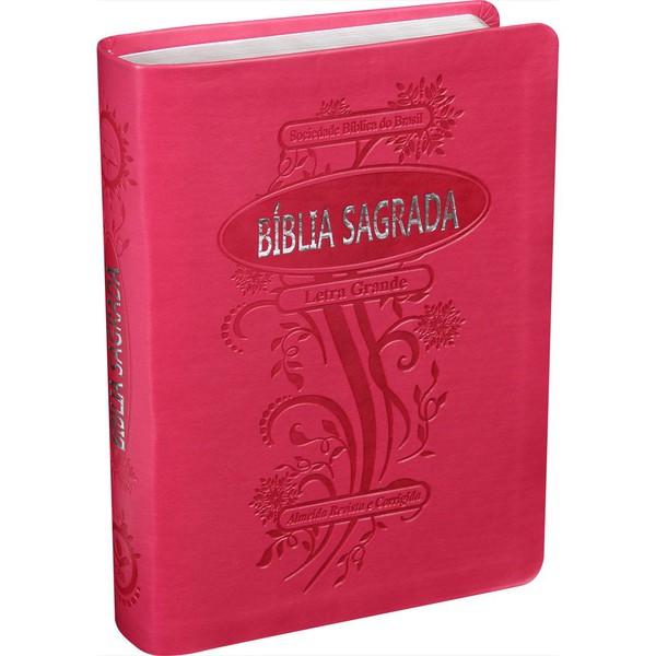 Bíblia Sagrada rosa - Letra Grande