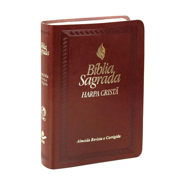 Bíblia sagrada marrom - Harpa cristã