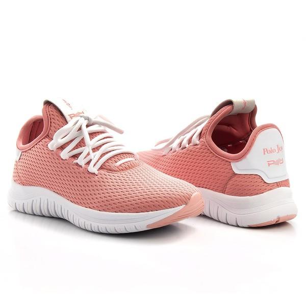 Tênis Têxtil Mesh Elástic Amarração Feminino Casual Conforto Pink