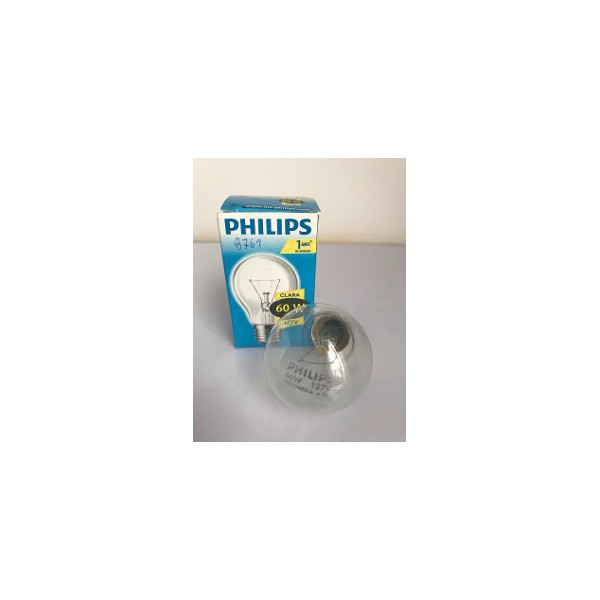 LAMPADA INCANDESCENTE. 60WX127V E27 PHILIPS
