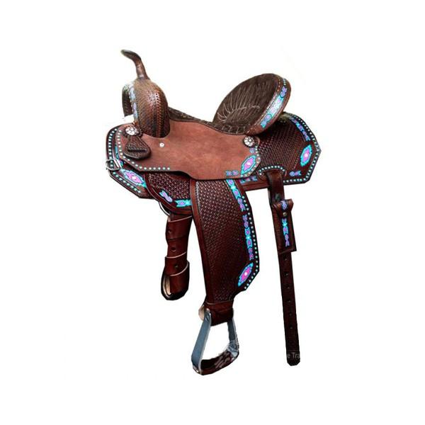 Sela de Couro Tambor - 08 Forma Protec Horse