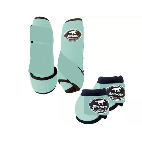Kit Simples Color Boots Horse Cloche e Caneleira - Verde água