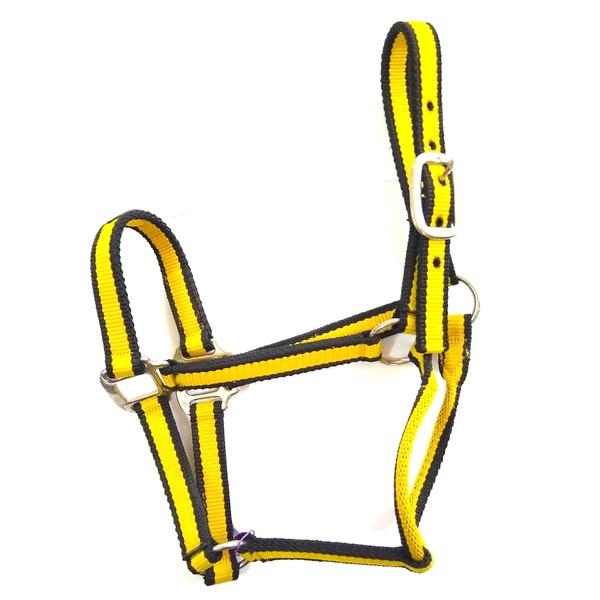 Cabresto de Nylon Boots Horse - Preto / Amarelo