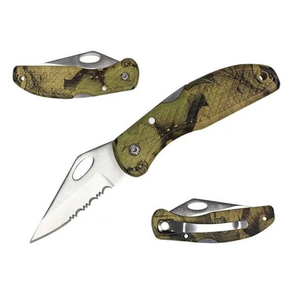 Canivete Maxam serrilhado - Camuflado SK7473c