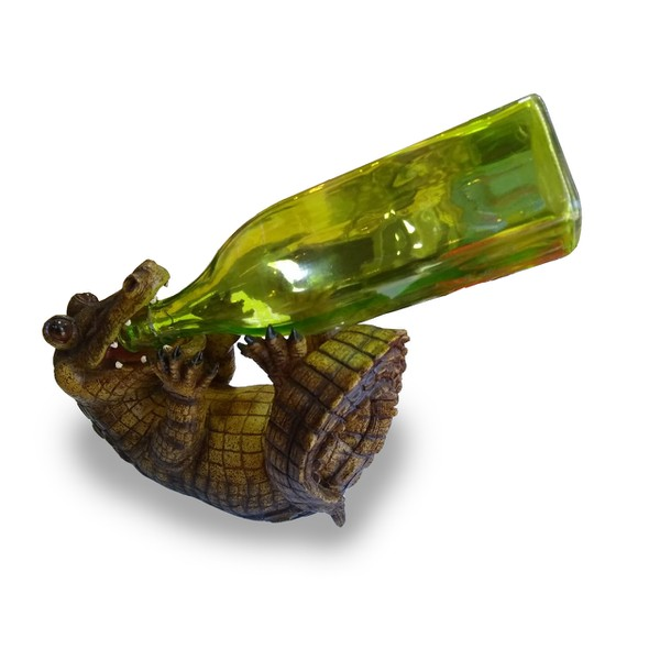 Porta vinho resina - Jacaré