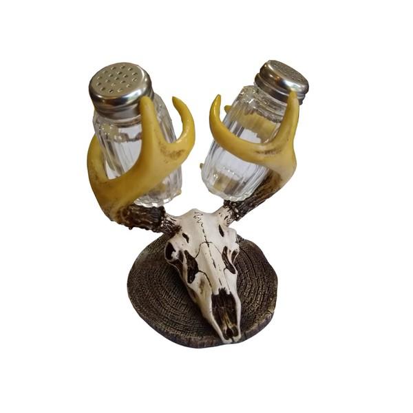 Saleiro Resina importado - Crânio com chifres
