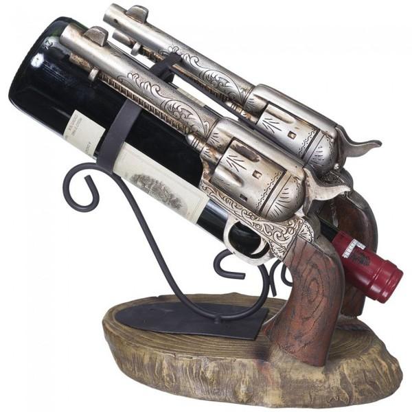 Porta Vinho resina importado - 2 Pistolas - Model. 2