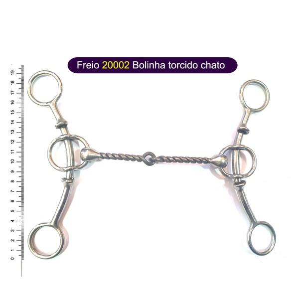 Freio Protec Horse - 20002 Bolinha torcido chato