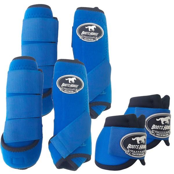 Kit Completo Boots Horse Color Cloche e Boleteira Dianteira e Traseira - Azul Royal