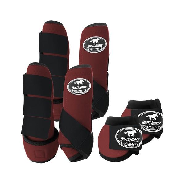 Kit Completo Boots Horse Color Cloche e Caneleira Dianteiro e Traseiro - Colorido 08
