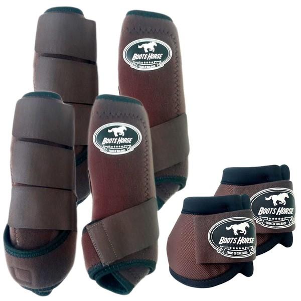 Kit Completo Boots Horse Color Cloche e Boleteira Dianteira e Traseira - Marrom