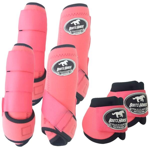 Kit Completo Boots Horse Color Cloche e Boleteira Dianteira e Traseira - Rosa