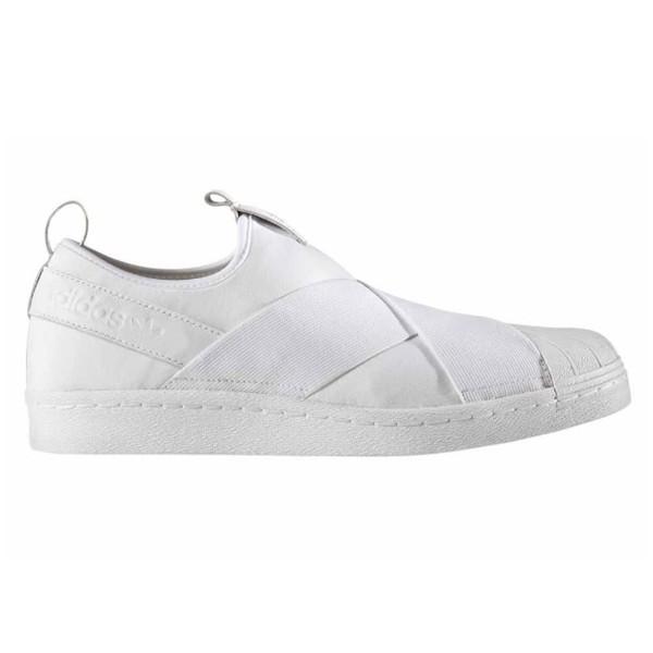 Tênis Sapatênis Elástico Adidas Superstar Slip On Unissex Branco