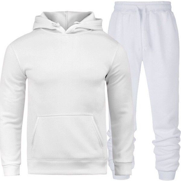 Conjunto Moletom Masculino Branco/Branco - Lorenzzo Lopez