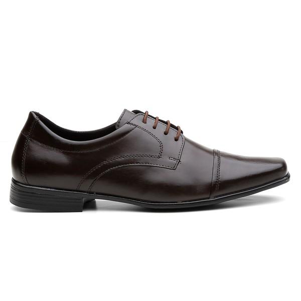 Sapato Social Masculino Em Couro Café - Lorenzzo Lopez