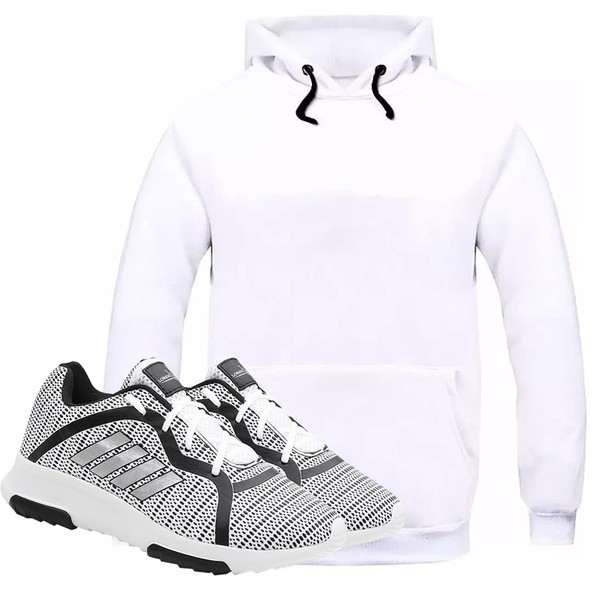Kit Moletom Masculino Branco + Tênis Masculino Sport Branco - Lorenzzo Lopez