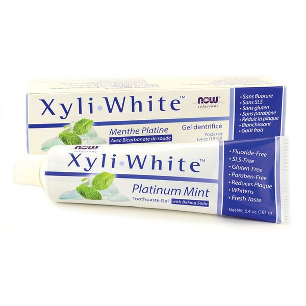 Creme Dental SEM FLÚOR XyliWhite, Now Foods - 181g