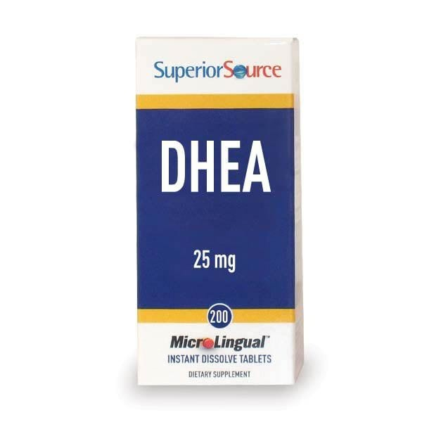 DHEA Sublingual - Superior Source 25 mg - 200 Tabs