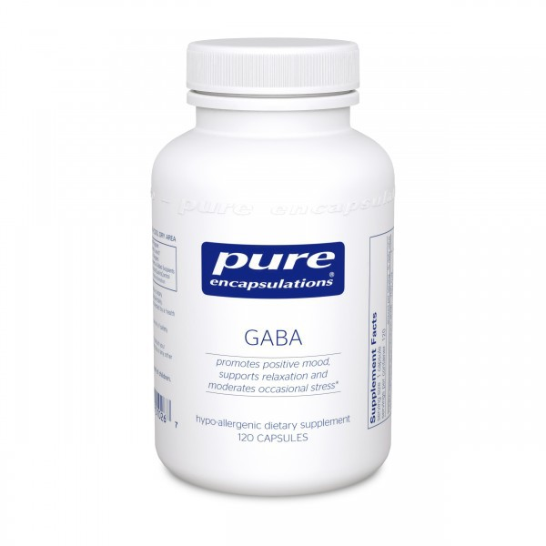 GABA, Pure Encapsulations, 700mg, 120 Capsulas