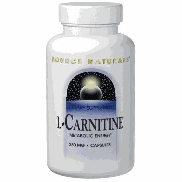 L-Carnitina - Source Naturals - 250 mg - 120 Capsules