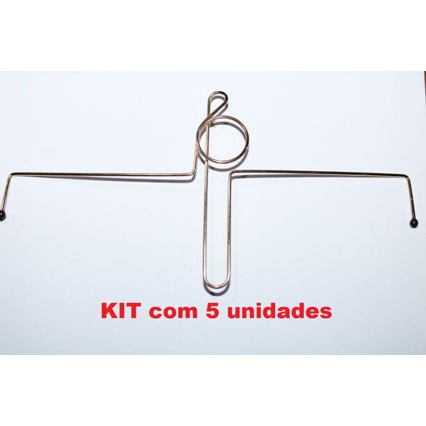 KIT 5 unidades - Prendedor De Hinário Clave de Sol Dourado