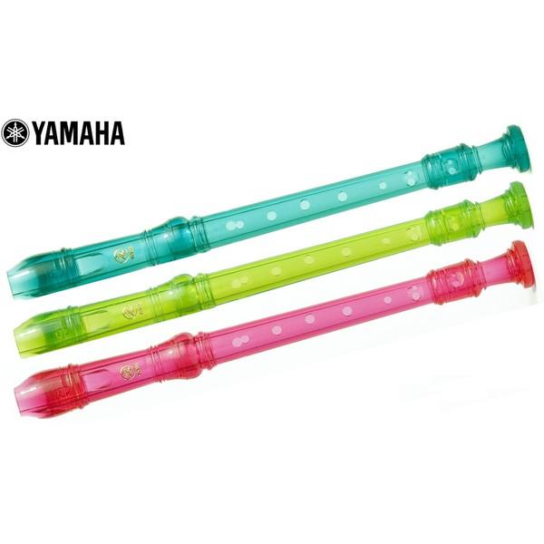 Flauta Doce Soprano Yamaha Germânica (Azul, Rosa Ou Verde)