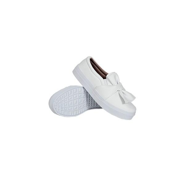 Slip On Laço Infantil Branco DKShoes