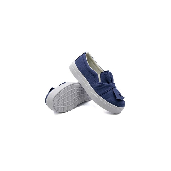 Slip On Laço Infantil Jeans Claro DKShoes
