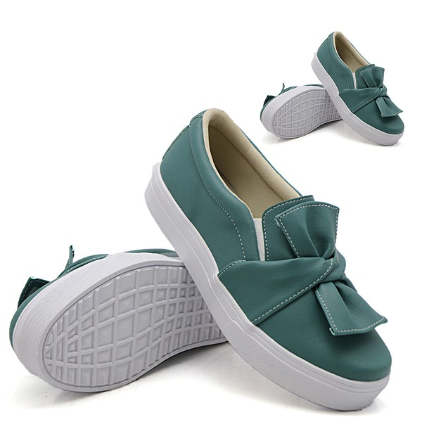 Tal mãe, tal filha: Slip On Laço Verde Pino DKShoes