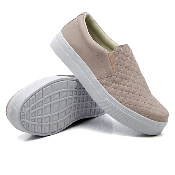 Slip On Matelassê rosê DKShoes