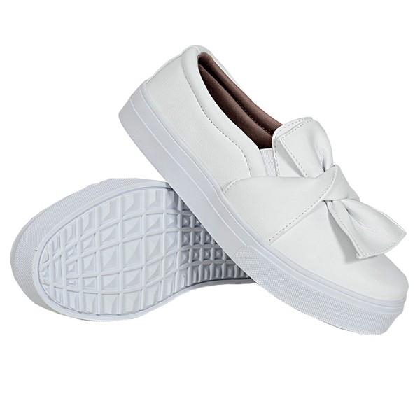 Slip On Laço Branco DKShoes