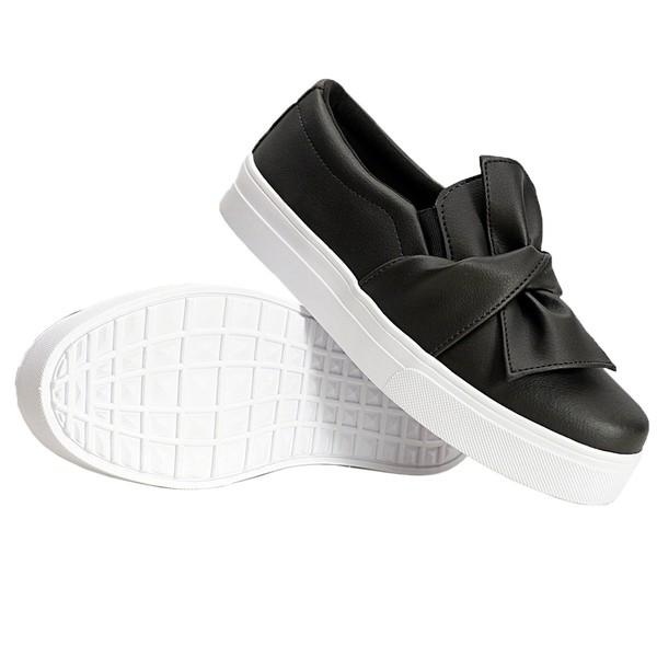 Slip On Laço Preto DKShoes