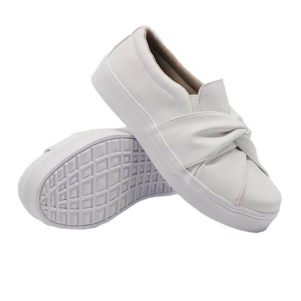 Slip On Nó Branco DKShoes