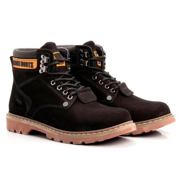 Bota Masculina Tratorada Jhon Boots Preta