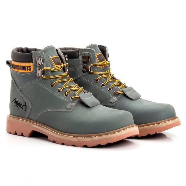 Bota Masculina Tratorada Jhon Boots Cinza