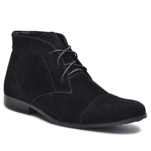 Bota Rota Shoes Masculina Em Couro Camurça Preta