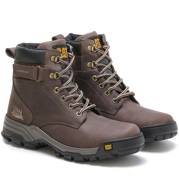 Bota Caterpillar Work Plus Café