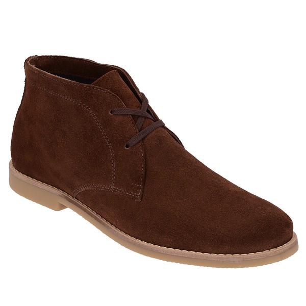 Botina Luxury Desert Boots Chelsea com Cadarço Café ESCRETE