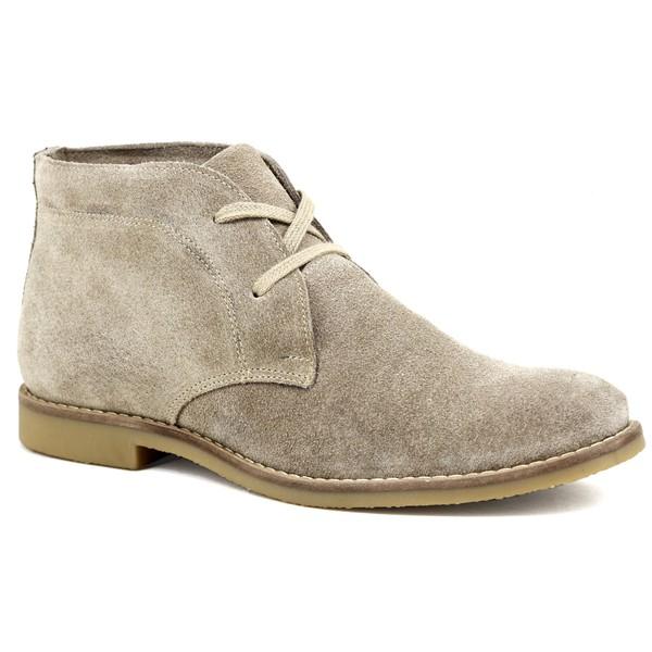Botina Luxury Desert Boots Chelsea com Cadarço Areia ESCRETE