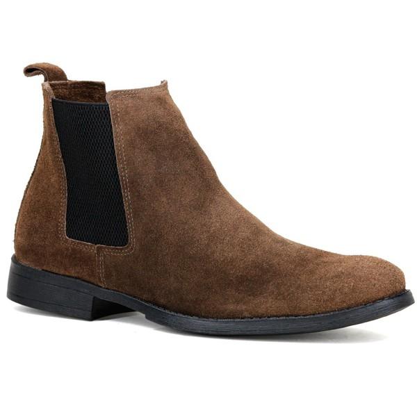 Bota Chelsea Boots Escrete Café couro legítimo