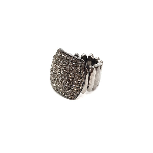 COD12247 ANEL COM STRASS BLACK DIAMOND