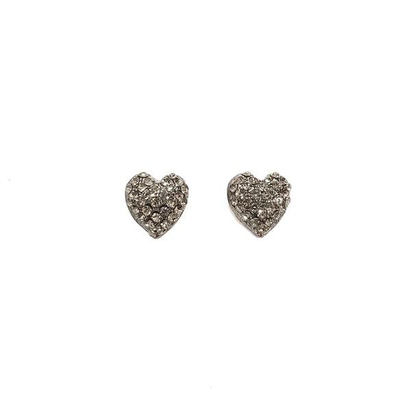 Brinco Pequeno de Coração Cor Black Diamond