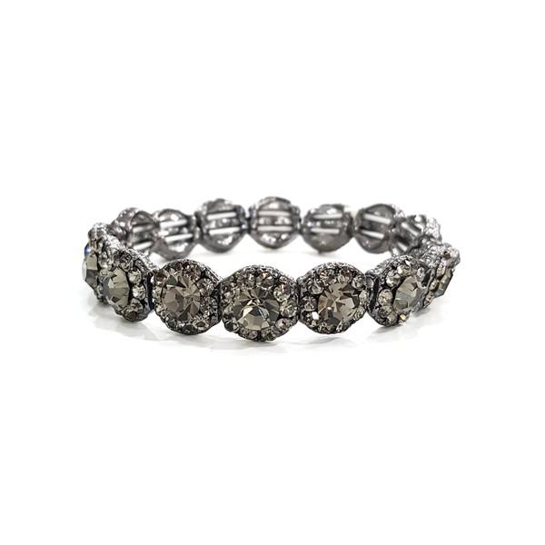 COD12521 BRACELETE COM STRASS BLACK DIAMOND