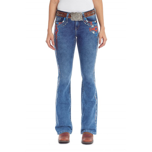 Calça Tassa Country Feminina Boot Cut Medium Wash