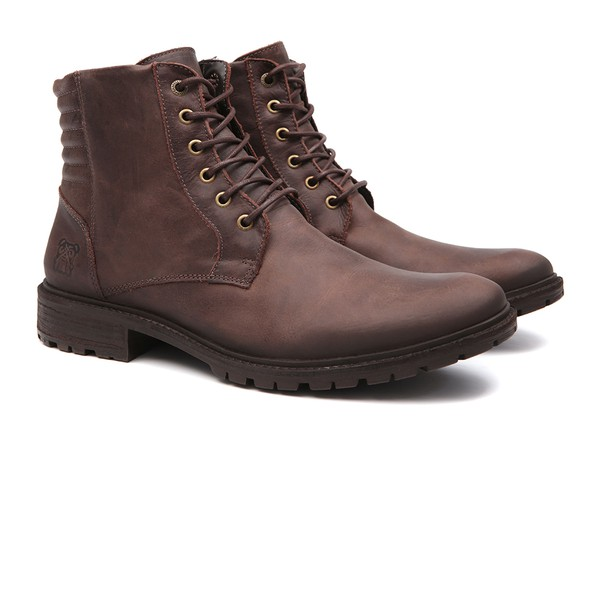 Bota Casual Masculina Kula Brown Samello